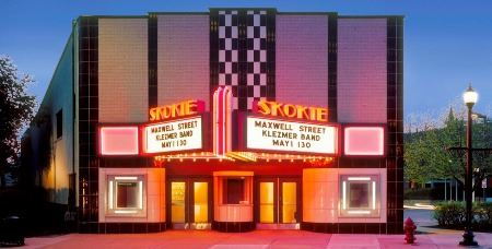 Skokie Theatre Night Photo