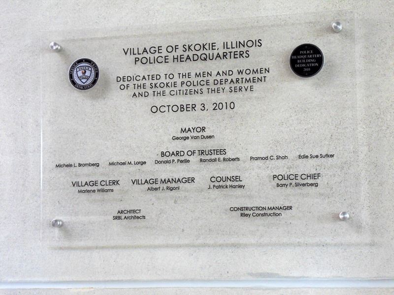 Image of dedication plaque of headquarters
